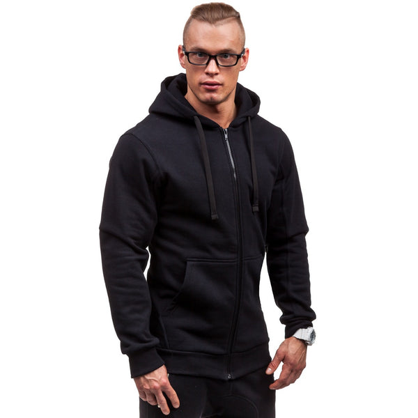 Mr Simple Pure Color Slim Fashion Hoodie - Casual Freaks