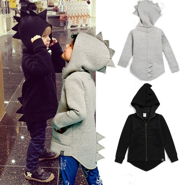 Girls Dinosaur Clothes Kids Boys Sweatshirt Hoodies Jacket Coat Outerwear - Casual Freaks
