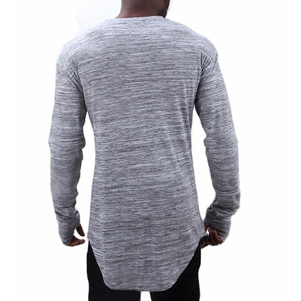 Men's Fashion Cotton Long Sleeve O-Neck - Casual Freaks