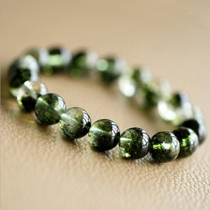 Natural Green Quartz Bracelets Prayer Crystals - Career Smoothing - Casual Freaks