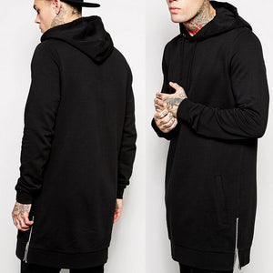 Hip Hop Streetwear Longline Side Zipper Hoodies - Casual Freaks