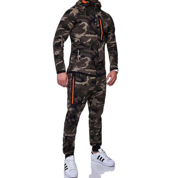 Men's Sporty Camouflage Tracksuit - Casual Freaks