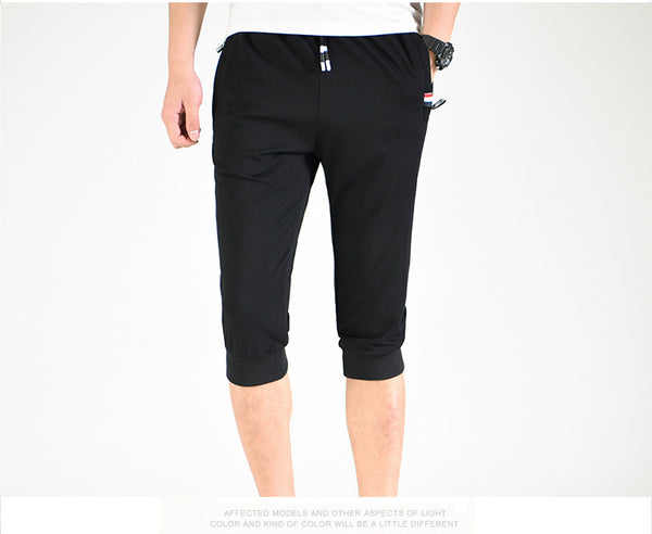 #Summer Must Have - Casual Calf Length Cropped Drawstring Joggers - Casual Freaks