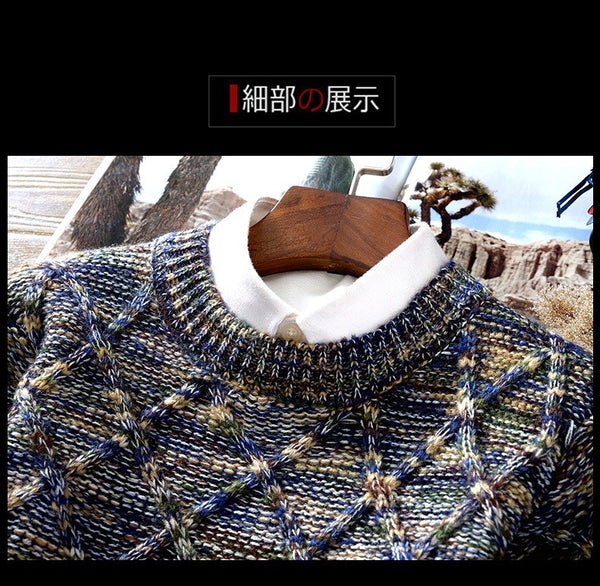 Fashion Mens Christmas Sweater Casual Slim Fit Long Sleeve Knitted Pullovers - Casual Freaks