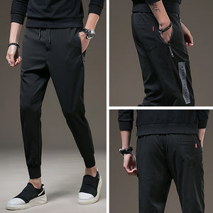 Casual Mens Sweatpants Elastic Waist Long Trousers 2018 - Casual Freaks