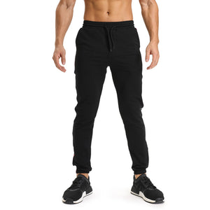 Men's Gasp Casual Solid Cotton Pants Joggers - Casual Freaks