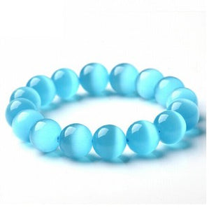New Design Blue Opal Beads Bracelet - Luck Changes - Casual Freaks