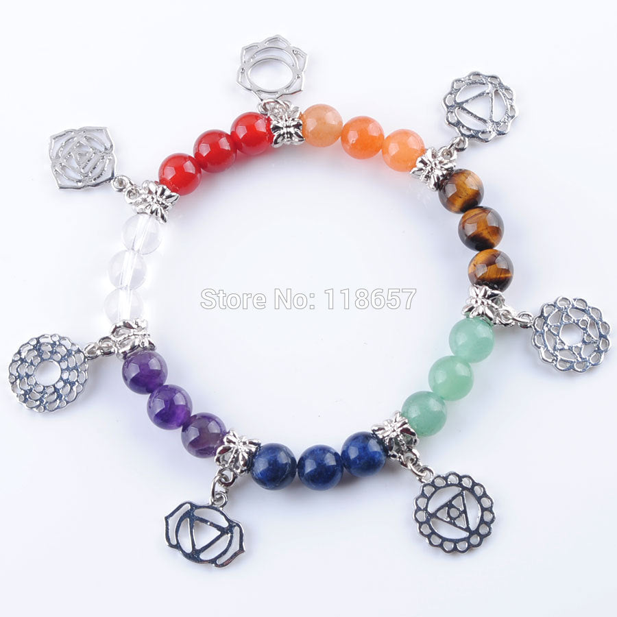 Chakras Gem Stone Beads Meditation - Casual Freaks