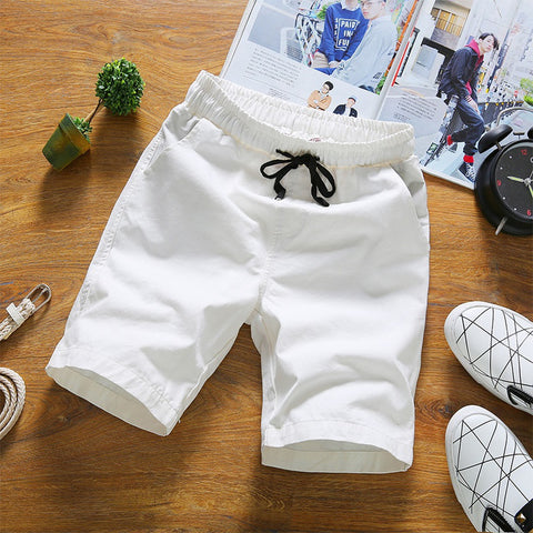 Summer Casual Men Shorts Solid Color - Casual Freaks
