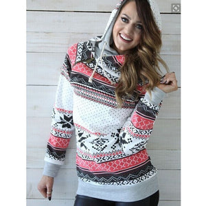 Winter & Autumn Snowflake Pattern Warm Long Sleeve Hoodie - Casual Freaks