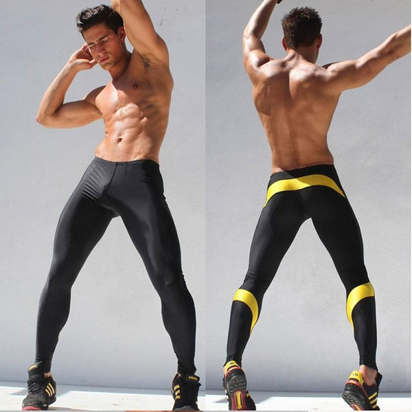 Men's Workout Fitness Compression Skin Tights Leggings Trousers - Casual Freaks
