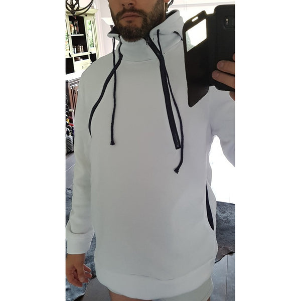 New Fashion Front Double Zipper Design Thickened Men Hoodie - Casual Freaks
