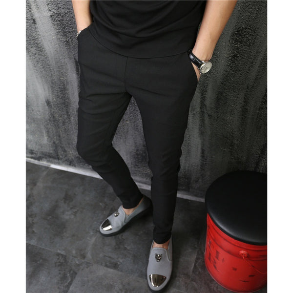 Casual Fashion Elastic Slim Fit Pants - Casual Freaks