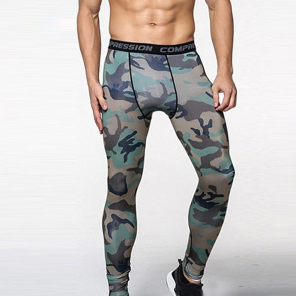CAMO Compression Fitness Leggings Trousers. - Casual Freaks