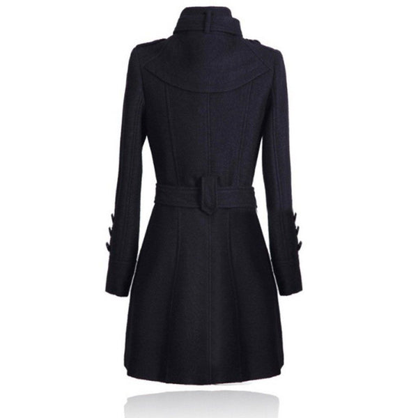 Elegant Woolen Coat Winter Slim Double Overcoat - Casual Freaks