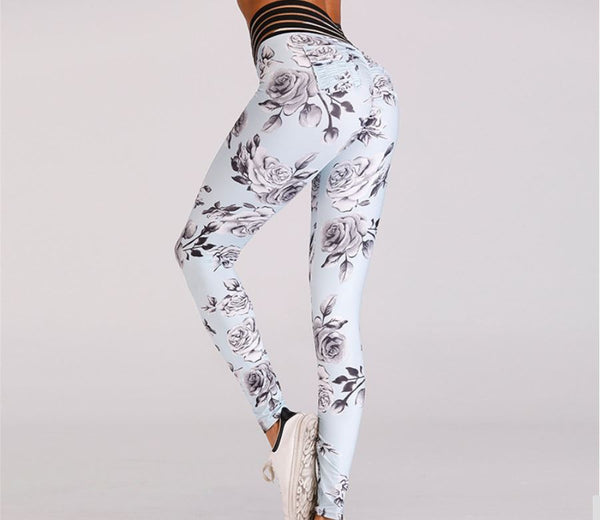 Sexy Version - High Quality High Waist Push Up Elastic Sexy Pants Flowers - Casual Freaks