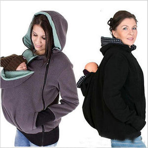 Kangaroo Hoodie 3 In 1 Pregnant Zipper Outwear Hoodies - Casual Freaks