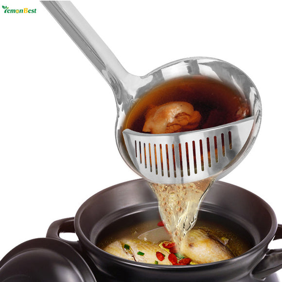 GrillMasterz 2 in 1 Stainless Colander Ladle