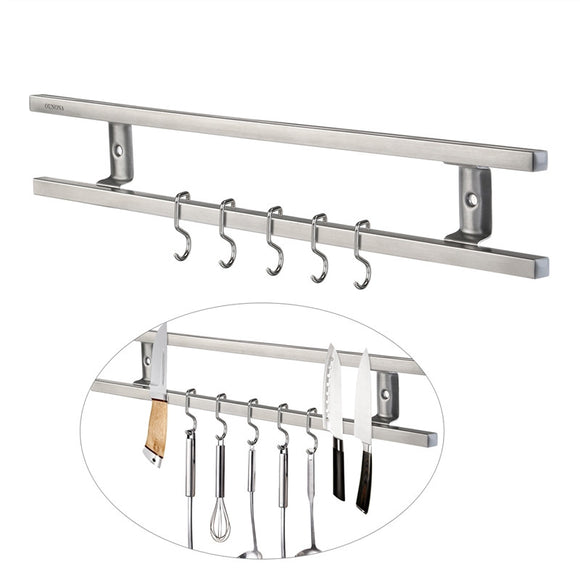GrillMasterz Wall-mounted Magnetic Double Bar Knife Rack