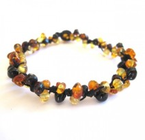 Load image into Gallery viewer, Amber Braided Bracelet - Flower Burst - adult