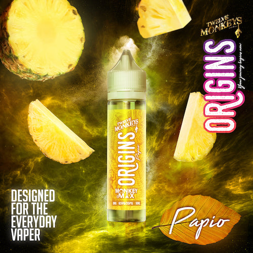 Twelve Monkeys - Origins - Papio - CRAM Vape - Scunthorpe Vape Store and Doncaster Vape Store