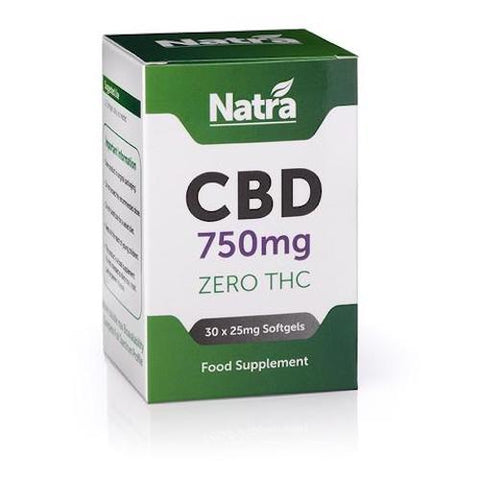 Natra CBD - 30 Soft Gel Capsules - 750mg