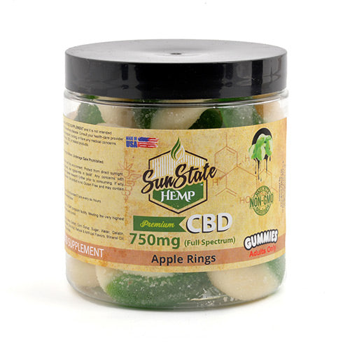 CBD Apple Rings 750mg - Sun State Hemp