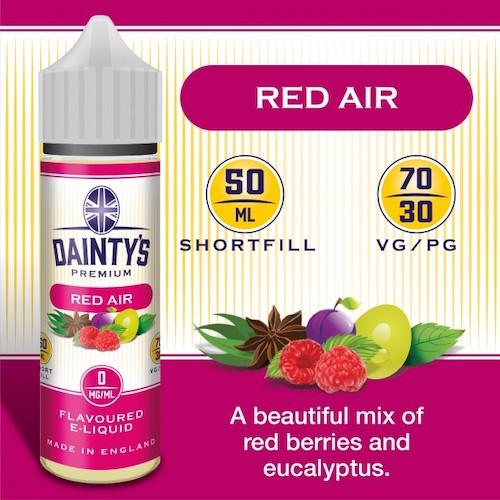 Red Air - Dainty's 50ml - CRAM Vape - Scunthorpe Vape Store and Doncaster Vape Store