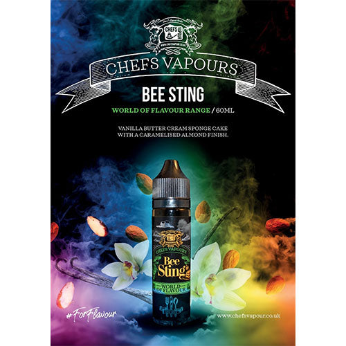 Bee Sting - Chefs Flavours - CRAM Vape - Scunthorpe Vape Store and Doncaster Vape Store