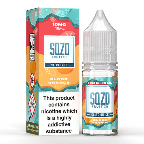 Blood Orange - SQZD On Ice Salts - CRAM Vape - Scunthorpe Vape Store and Doncaster Vape Store