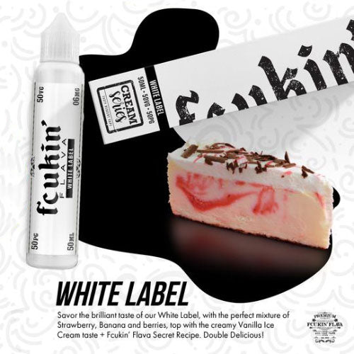 White Label - Fcukin' Flava Cream - CRAM Vape - Scunthorpe Vape Store and Doncaster Vape Store