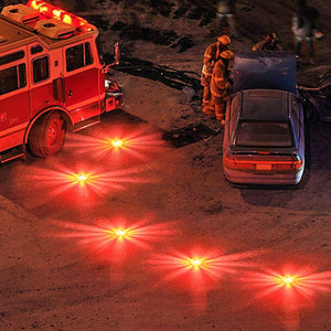 2 Pack LED Road Flares Flashing Warning Light