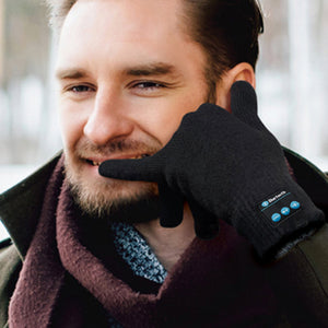 Wireless Bluetooth Gloves with Built-in Speaker and Mic