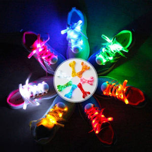 LED Light Up Shoelace w/ 3 Flash Settings (7 Colors)