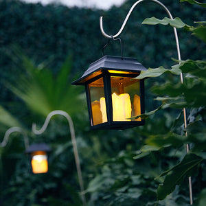 Solar-Powered Vintage Candlelight Lamp