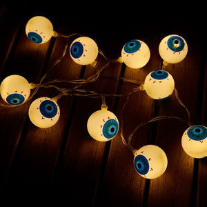 Halloween Spooky Eyeballs String Lights