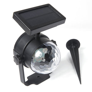 Solar-Powered Multi-Color LED Rotation Projector Light