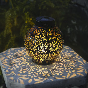Solar-Powered Iron Lantern