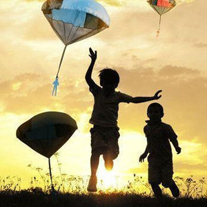 3 Pcs Tangle Free Toy Parachute - Simply Toss it High and Watch it Fly!