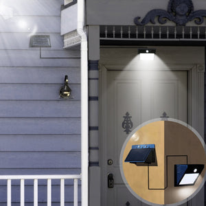 ALL-NEW Solar Powered Motion Sensor Light (W/ Detachable Solar Panel)
