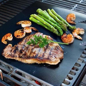 2 Pcs BBQ Non-Stick Grilling Mats - No More Messy Grills!
