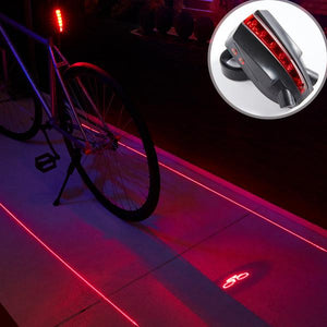 LED Laser Projector Bicycle Taillight