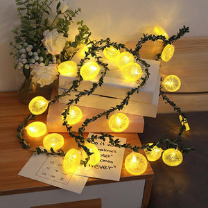 Lemon Slice LED Leaf Lights