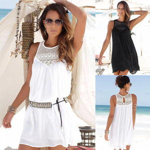 Crochet Beach Dress - White