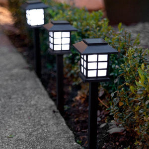 2 Pack - Solar-Powered Japanese Style Garden Lamps