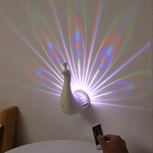 LED Peacock Projection Light
