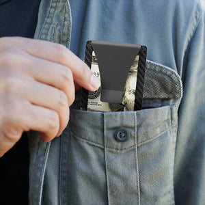 Minimalist Carbon Fiber RFID Blocking Card Holder