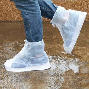 2 Pcs Waterproof Reusable Shoes Cover - Keep Your Shoes Dry and Clean!