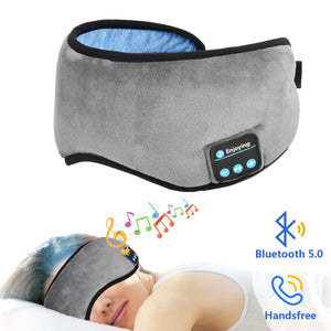 Bluetooth Sleep Mask Headphones - Good Sleep with Comfy Mask and Music
