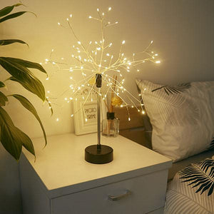 Copper Wire LED Tree Light